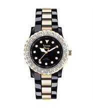 Montre femme noir et 131 cristaux swarovski doré louise pearl 5