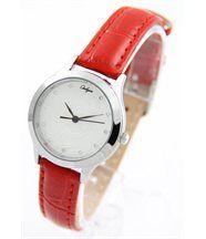 Montre femme bracelet cuir rouge onlyou 318