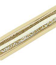 Bracelet de Femme Cuir Marron Incrusté DAPHNEE 1195