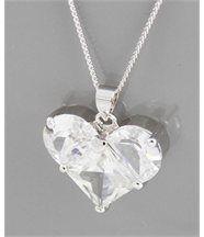 Pendentif collier pour femme en coeur daphnee 146