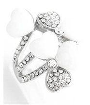 Bague femme diamants coeur argent daphnee 818
