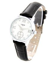 Montre Femme Cuir Noir Diamants Cz WAVE 1292