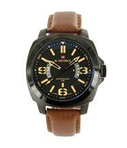 Belle Montre Homme Cuir Marron NAVIFORCE 1319
