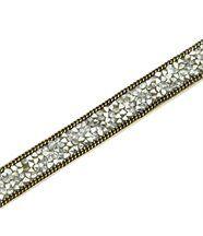 Bracelet pour Femme Cuir Gris Incrusté DAPHNEE 1203