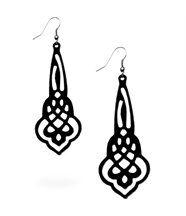 Boucles d oreille femme silicone noir arabesques lady gum 1232