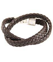 Beau bracelet femme double cuir chocolat daphnée 290