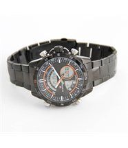 Montre homme beau bracelet acier noir naviforce 1383