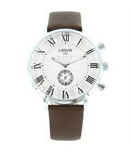 Montre homme cuir marron wave 1743