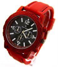 Montre Homme Silicone Rouge V6 2681