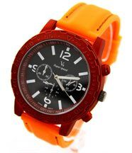 Montre homme silicone orange v6 2684