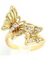 Jolie bague papillon doré femme daphnee 821
