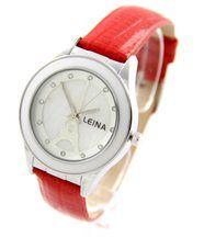 Jolie montre femme cuir rouge leina 1293