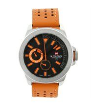 Montre homme cuir orange chic naviforce 136