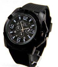 Montre Homme Bracelet Silicone Noir V6 2091