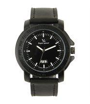 Montre fashion homme cuir noir v6 606