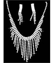 Parure Femme Argenté 250 Diamants Cz DAPHNEE 103