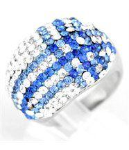 Bague femme argent diamants cz daphnee 832