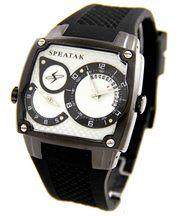 Magnifique montre homme dble-cadran silicone noir speatak 2231