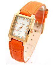 Montre Femme Cuir Couleur Orange JASMIN 2640