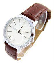 Montre femme bracelet cuir chocolat onlyou 634