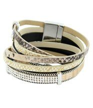 Bracelet pour Femme Cuir Marron Incrusté DAPHNEE 149