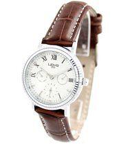 Montre femme cuir marron style chrono wave 468
