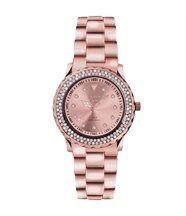 Montre femme ornée de 131 cristaux swarovski rosé pearl 28