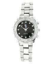 Montre femme acier argenté diamants cz gg luxe 2126