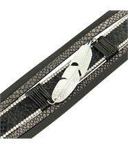 Bracelet Femme Cuir Gris Tendance Incrusté DAPHNEE 1216