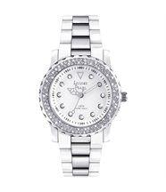 Montre femme et 131 cristaux swarovski blanc argent louise pearl 2
