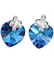 Boucles d oreilles pour femme argenté cristaux swarovski elements coeur 1044