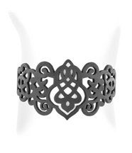 Bracelet femme silicone noir arabesque lady gum 1242