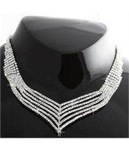 Magnifique parure femme argenté 350 diamants cz daphnee 302