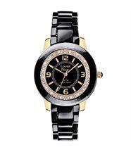 Montre femme pearl cristaux swarovski noir doré pearl 17