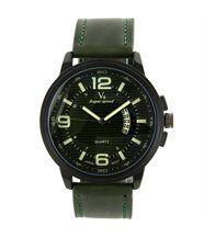 Très belle montre homme cuir vert v6 1561