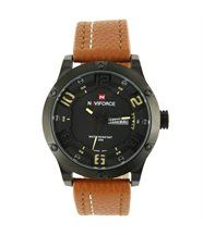 Belle Montre Homme Cuir Marron NAVIFORCE 1350