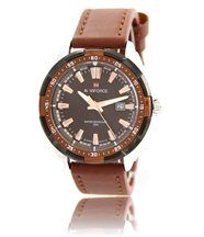 Montre homme bracelet cuir chocolat naviforce 1355