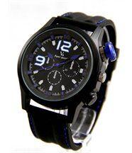 Montre pour Homme Bracelet Silicone Noir V6 2153