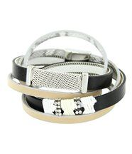 Bracelet de Femme Cuir Blanc Incrusté DAPHNEE 100