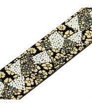 Bracelet Femme et Cuir Noir Incrusté DAPHNEE 1210