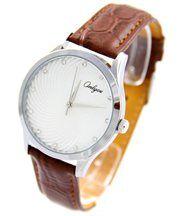 Montre femme bracelet cuir chocolat onlyou 2002