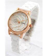 Montre Bracelet Femme Céramique Couleur Blanche 2962