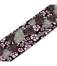 Bracelet Femme en Cuir Noir Incrusté DAPHNEE 1206