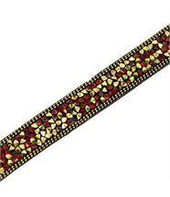 Bracelet femme avec cuir doré incrusté daphnee 1202