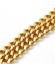 Bracelet femme bijou acier doré gros maillons daphnee 274