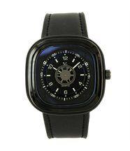 Jolie montre homme cuir noir v6 1106