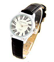 Montre femme avec bracelet en cuir noir jasmin 2604