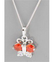 Pendentif et collier pour femme papillon daphnee 137