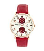 Montre Homme Cuir Rouge WAVE Chrono 1656