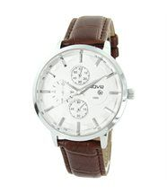 Montre Homme Cuir Marron WAVE Chrono 1695